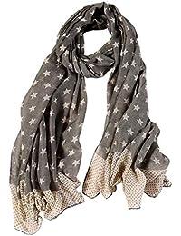 ba6c42721f0d PROKTH   Nouveau modèle féminin Tout Style coréen écharpe bloquant Le  Soleil Foulard étoiles étoiles à Cinq Branches modèles Lin…