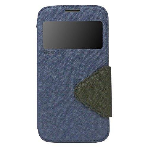 Sony Xperia Z3 Compact Hülle Flip Case Dunkelblau Schutzhülle mit Fenster und Magnetverschluss | Optimaler Schutz vor Kratzern, Staub, Schmutz, Spritzwasser | 100% Passgenaue Aussparungen für Anschlüsse, Bedienelemente, Kamera | Inkl. Vollumschließender Silikon-Innenhülle