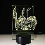 Illusion Lampe Âne 3D Led Lampe Usb Led Night Light Batterie Led Lumières 7...
