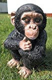 Schimpanse sitzend 31 cm Figur Garten Tier Gartenfigur Affe