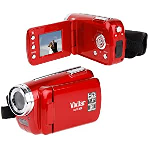 """Vivitar DVR508 HD Digital Video Camcorder in Red with 1.8"""" LCD Preview Screen & 4 x Digital Zoom"""