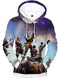 SIMYJOY Fortnite Gamers Stampato Felpe con cappuccio Fortnite PVP Stampa 3D Giacca Cool Pullover Per Uomo Donna Teen