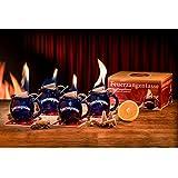 Feuerzangentasse 4er-Set für Feuerzangenbowle, Glühwein (Black Edition)