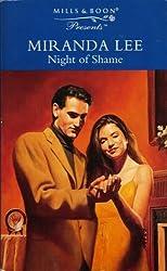 Night of Shame (Presents) by Miranda Lee (1997-04-11)