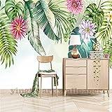 ADDFLOWER Benutzerdefinierte 3D Wandbild Wallpaper Südostasien Tropischer Regenwald Bananenblatt Foto Hintergrund Wandbilder Vliestapete Modern, 350x245 cm (137.8 by 96.5 in)