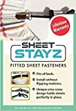 Sheet Stayz - Set of 2 Criss Cross Fitted Sheet Fasteners (i.e. Sheet Grippers) for One Bed of Any Size