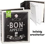 alles-meine.de GmbH Kochbuch & Backbuch - Ordner / Ringbuch / Sammelordner -  Bon Appetit Rezepte  __ 25 Seiten - ERWEITERBAR - Rezeptbuch zum selberschreiben mit Regis..