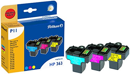 Pelikan P11 Druckerpatronen PromoPack (ersetzen HP 363 CB333EE) cyan, magenta, gelb -