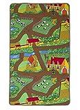 Kinder-Spielteppich Bauernhof Tiere Traktor Matte Spielteppich Spaß 95cm x 133cm (3ft 1