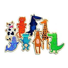 Djeco DJ03111 – Gli animali pazzi, Puzzle di legno