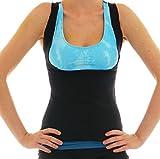 LaLaAreal Mujer Camiseta Reductora de Compresion de Neopreno para Sudaracion Excesiva , Adelgazar Rápido , Faja Barriga y Abdomen