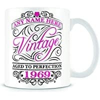 50th Birthday Mug for Women and Men - Vintage 1969-50th Birthday Gift