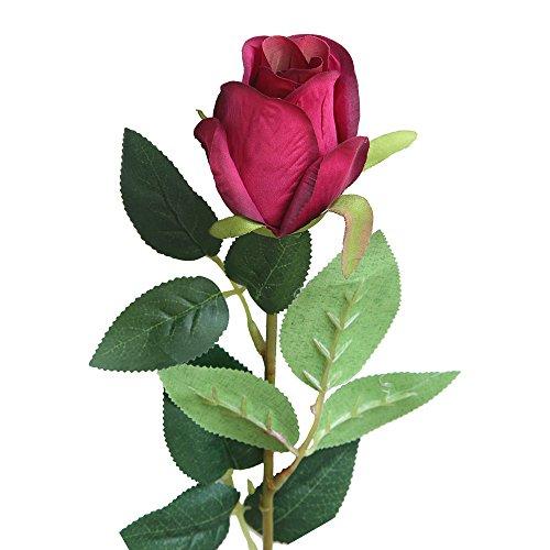 Dvhblxux Artificielle Feuille Floral De Mariage Décor Branch Fête des Élégante Romantique Faux De Soie Fleur Feuille Jardin Décor Bouquet De Mariée C
