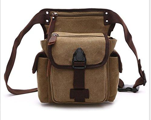&ZHOU Borsa di tela, multi-funzione doppio uso borsa a tracolla, borse di petto, borsa del computer per il tempo libero, uomini e donne, borsa da viaggio, borsa di tela , khaki Khaki