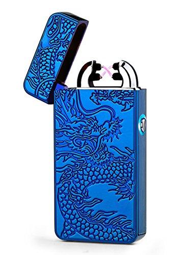 Aokvic USB elektronisches Feuerzeug aufladbar lichtbogen (Blau)