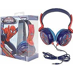 Nueva marca de Vengadores de Marvel Spiderman rojo y azul infantil Auriculares con diadema ajustable