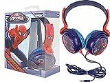 Brand New Avengers Marvel Spiderman Red Blue childrens Earphones Headphones With Adjustable Headband