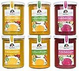 Intervallfasten Suppenfasten nach Moll 6x380ml | Abnehmen vegan lecker Entschlacken Detox | Rote-Bete Süßkartoffel Rote-Linsen