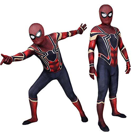 Halloween Weibliche Erwachsene Kinder Avengers Iron Man Eisen Spider-Man Siamese Tights Cosplay Halloween-Kostüm,Adults