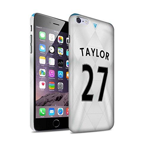 Offiziell Newcastle United FC Hülle / Matte Snap-On Case für Apple iPhone 6+/Plus 5.5 / Pack 29pcs Muster / NUFC Trikot Away 15/16 Kollektion Taylor