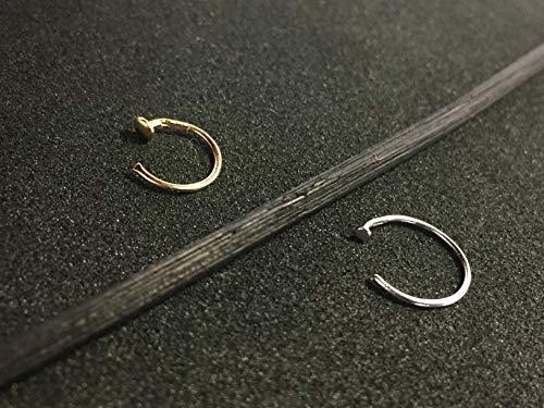 Diversa piercing - anello naso uomo hoop anello naso aperto in oro 18 carati bianco o giallo