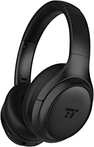 TaoTronics Active Noise Cancelling Bluetooth Headphones HiFi Deep Bass w/CVC Noise Canceling Microphone, All Day Playtime, Co