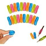 Shulaner corrector escritura colorido suave lápiz o bolígrafo Grips para niños y adultos, color 20 Pcs of 4 colour agarre de lápiz