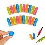 Shulaner Colourful Soft Pencil or Pen Grips for Children and Adults Pack of 20 Pencil Gripper