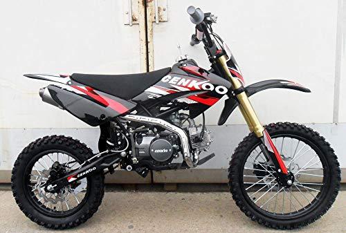 CENKOO-125 125cc Cross Dirt Bike Pit Bike Schwarz/Rot (17/14