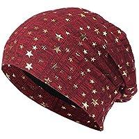 Sombrero Mujer Invierno Elegante ❄ Sonnena Hombres Mujeres Estrellas Sombrero Sombrero de Invierno de Punto cálido de Ganchillo Sombrero holgazán de esquí Beanie Skull