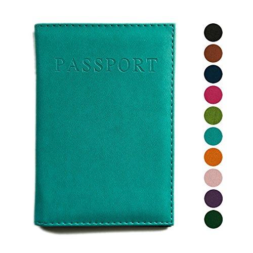 Para pasaporte, funda, soporte para, ideal para animales de viaje de piel, 10colores