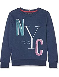 Tommy Hilfiger Ame Girls Graphic Cn Hwk L/S, Sweat-Shirt Fille