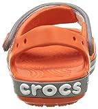 crocs Unisex-Kinder Crocband Sandal Kids Clogs, Rot (Tangerine/Smoke), 32-33 EU (1) - 2