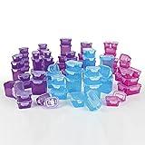 GOURMETmaxx 08202 Klick-It Frischhaltedosen | 144 Teiliges BPA freies Aufbewahrungsdosen-Set (72 Dosen und 72 Deckel | Geeignet für Gefrierschrank, Mikrowelle, Spülmaschine | 4 Fach Klicksystem (Deckeldichtung) | Multifunktionsboxen Lila/Pink/Türkis