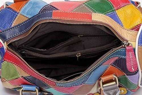 Greeniris Da donna Borse in vera pelle colorati plaid Crossbody borse per le donne Floral Hobo spalla Totes Borse … 2 multicolore