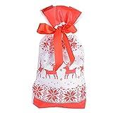 15*23cm 50pz Sacchetti Natalizi di Caramelle Dolcetti Buste Bustine Borse Biscotti Dolci Portaconfetti Bomboniere per Festa Natale Regalo (Alce)
