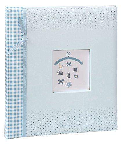 Baby Mobilee Fotoalbum in 29x32 cm 60 weiße Seiten Kinder Baby Foto Album: Farbe: Blau - Digitale Baby-foto-album