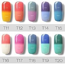 10 Colores de la Esmaltes Cambia Color Temperatura de Uñas en Gel Semipermanente Baratos por ESAILQ