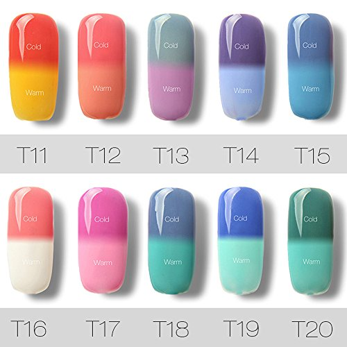 10 Colores Esmaltes Cambia Color Temperatura Uñas