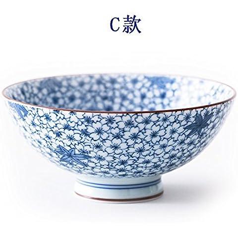 Yifom blu underglaze ceramica ciotola piccola ciotola,C