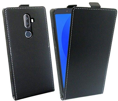 cofi1453 Klapptasche Schutztasche Schutzhülle kompatibel mit Alcatel 3V (5099D) Flip Tasche Hülle Zubehör Etui in Schwarz Tasche Hülle