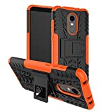 #3: Parallel Universe Original Xiaomi Redmi 5 Back Cover Case Dual Layer Rugged and Tough Defender With Bult in stand - Orange