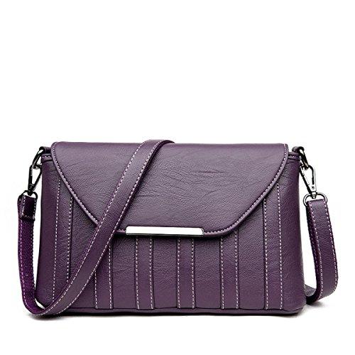WU Zhi Damen Beutel Schulter Kurierbeutel Purple