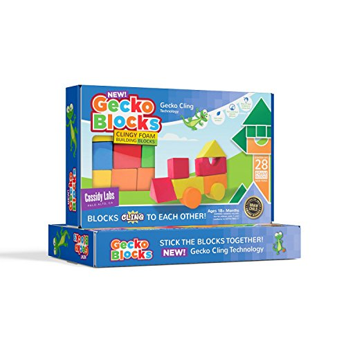 Gecko Blocks, Clingy Foam Building Blocks, 28 Pieces