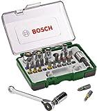 Bosch 27-teiliges Schrauberbit- und Ratschen-Set mit Farbcodierung