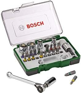 Bosch 27-teiliges Schrauberbit- und Ratschen-Set mit Farbcodierung, 2607017160