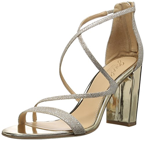 Badgley Mischka Damen Gale Sandalen mit Absatz, Gold, 38.5 EU -