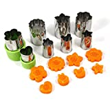 Best Vegetable Cutters - Stainless Steel Vegetable Cutter Shapes Set, Mini Cookie Review