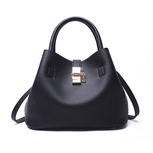 Mefly Nuova Moda Fashion benna Borsa borsetta di unione e American Style Black black