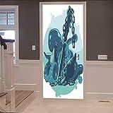 Niazhy 3D Por Pegatinas Cadena De Pulpo Adhesivos De Pared Dormitorio De La Sala De Madera Por Decoración Del Hogar Autoadhesivo Mural Removible (77X200Cm)